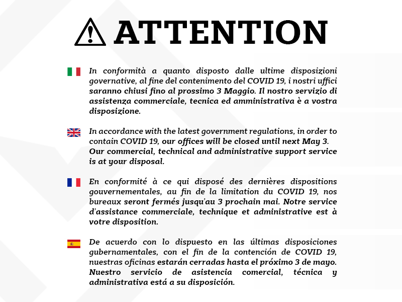 Attention - Condor S.p.A.